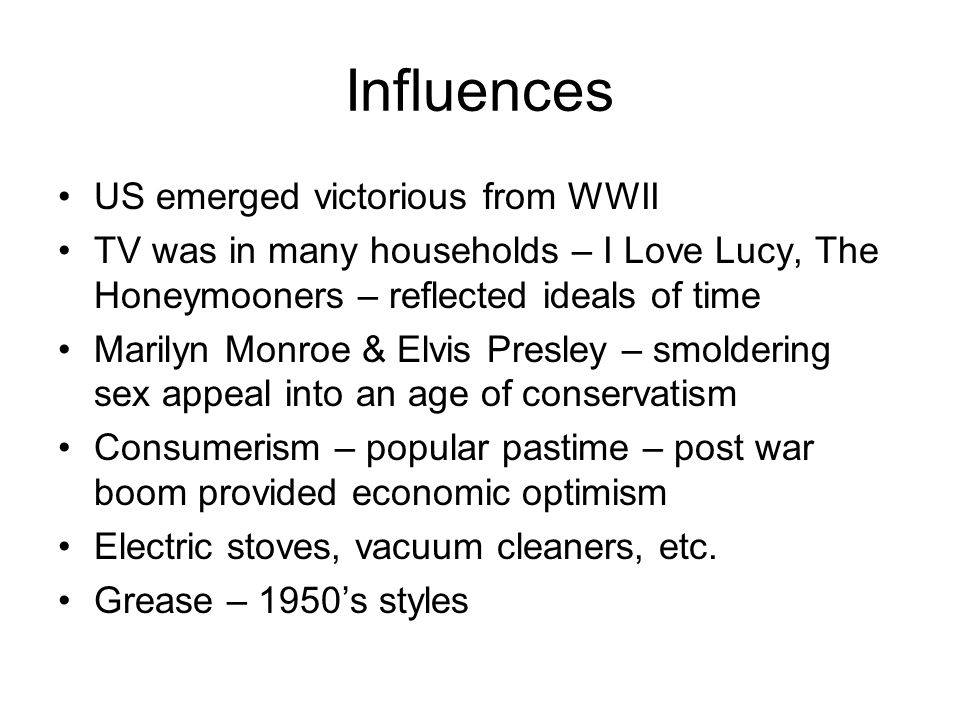 Influences US emerged victorious from WWII