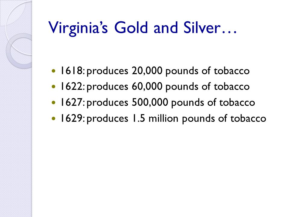 Virginia's Gold and Silver…