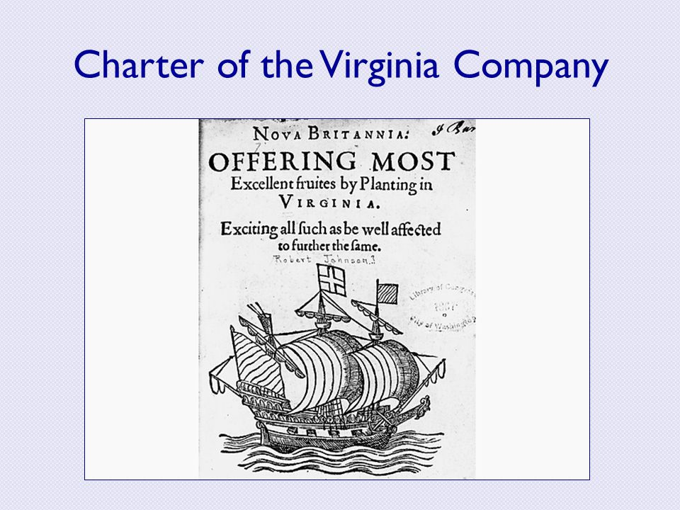 Charter of the Virginia Company