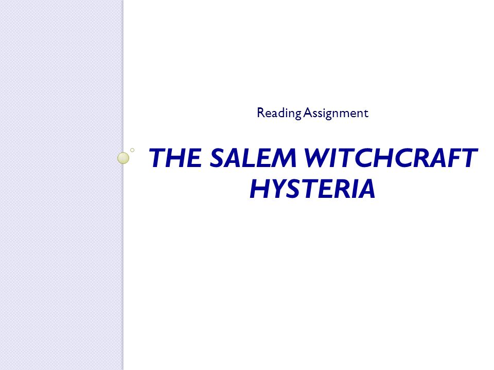 the hysteria of salem witchcraft essay The salem witch trials of 1692 were a series of the salem witch trials essay the deterioration of salem's social structure hysteria and hidden.