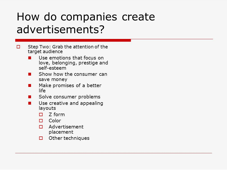 How do companies create advertisements