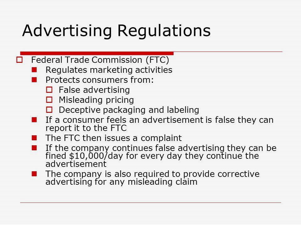 Advertising Regulations