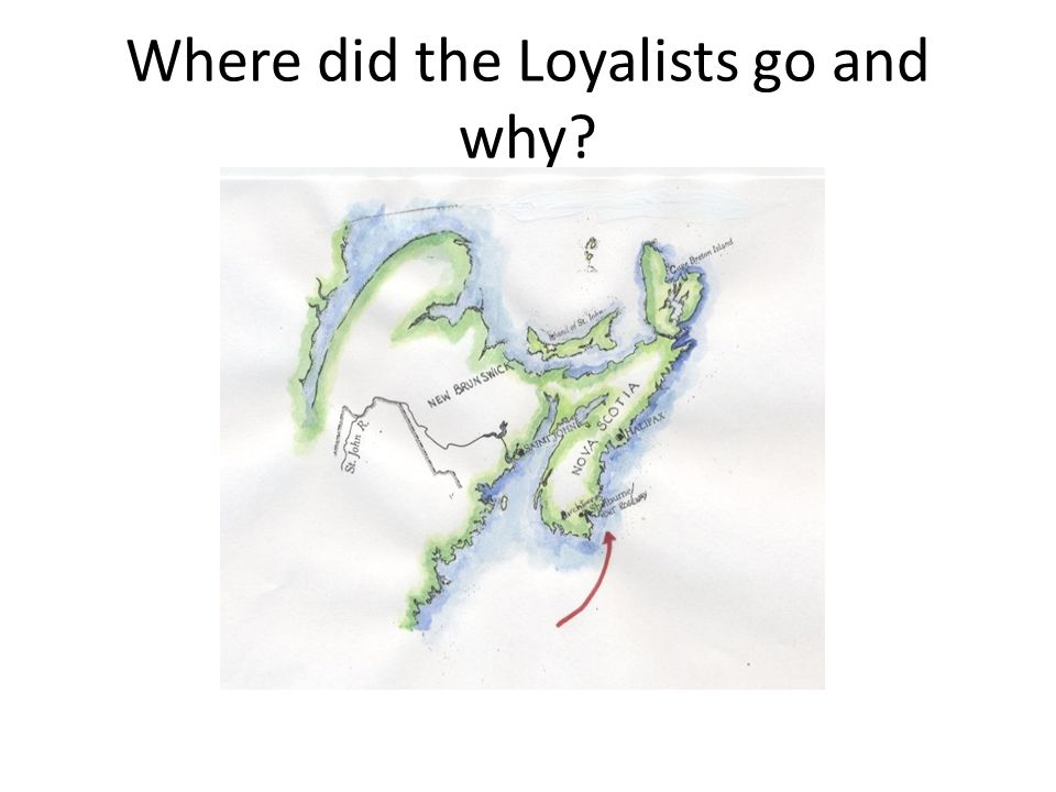 Where did the Loyalists go and why