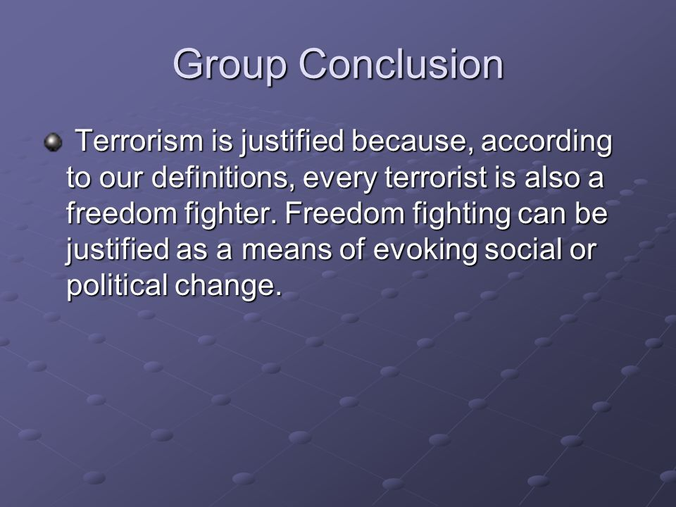 Group Conclusion