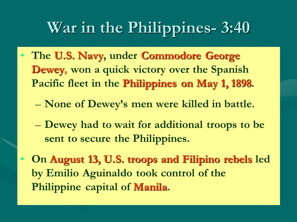 War in the Philippines- 3:40