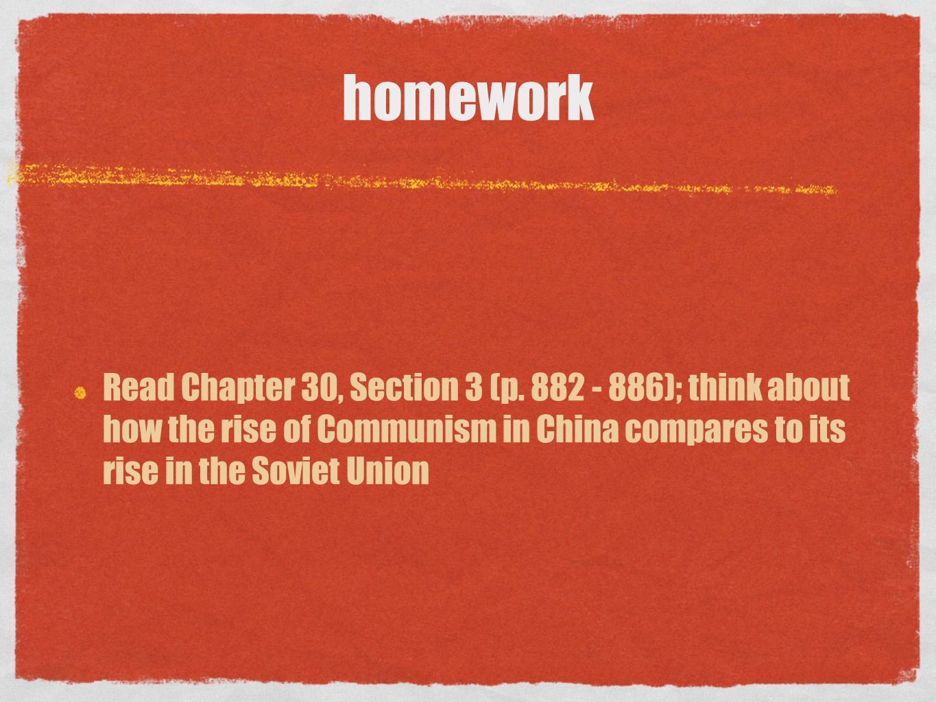 homework Read Chapter 30, Section 3 (p.