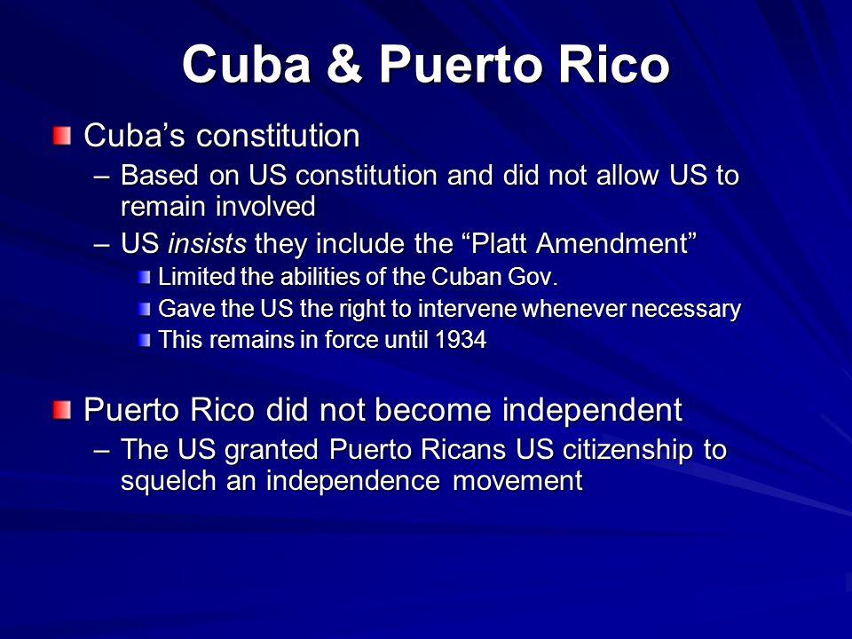 Cuba & Puerto Rico Cuba's constitution