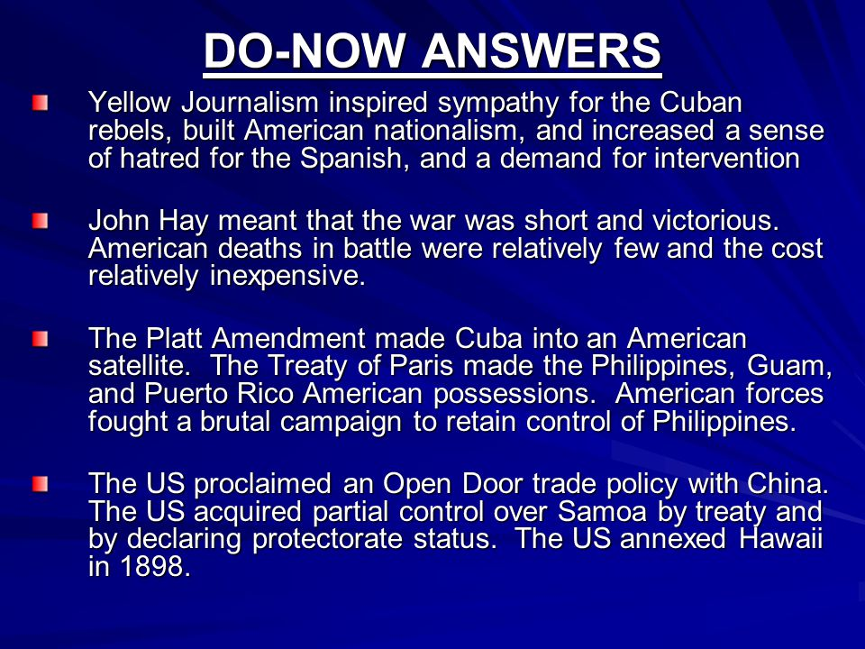 DO-NOW ANSWERS