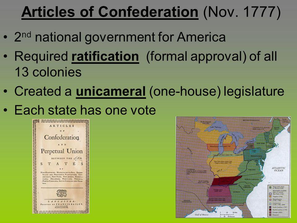Articles of Confederation (Nov. 1777)