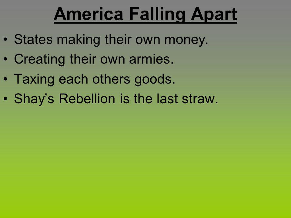 America Falling Apart States making their own money.