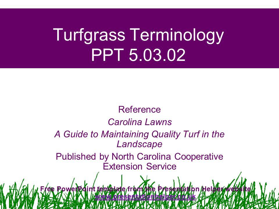 Turfgrass Terminology PPT 5.03.02