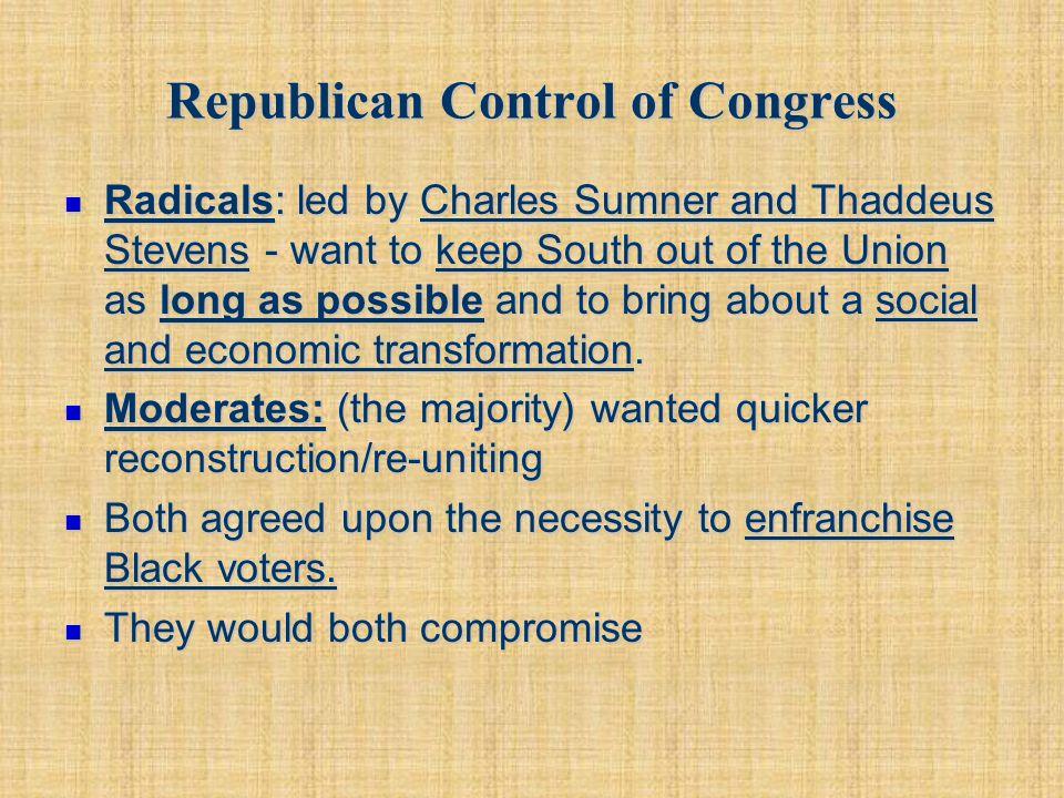Republican Control of Congress
