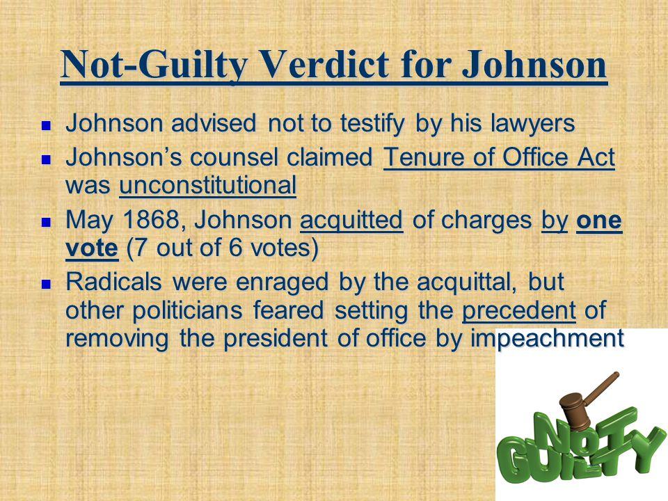 Not-Guilty Verdict for Johnson