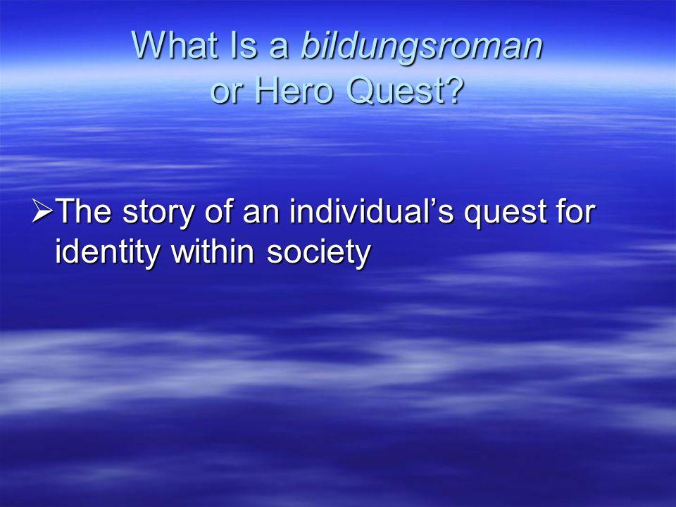 What Is a bildungsroman or Hero Quest