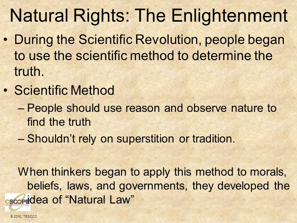 Natural Rights: The Enlightenment