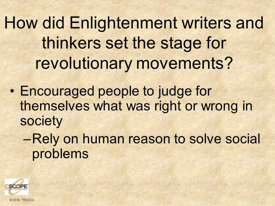 How did Enlightenment writers and thinkers set the stage for revolutionary movements