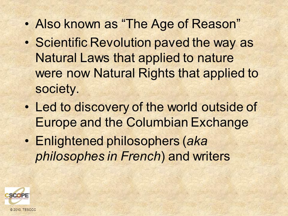 Also known as The Age of Reason