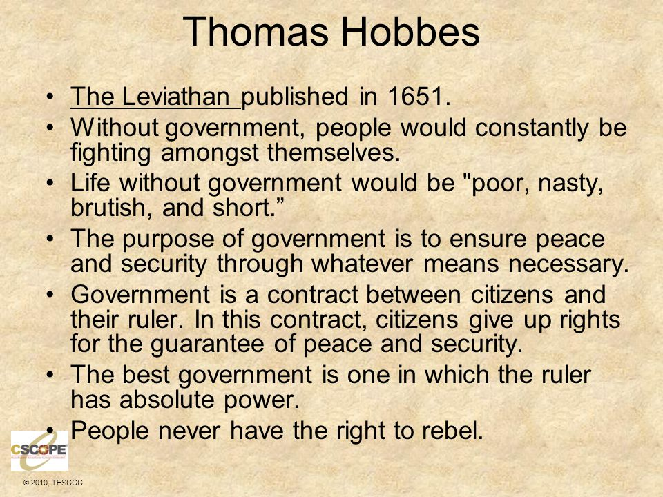 Thomas Hobbes The Leviathan published in 1651.