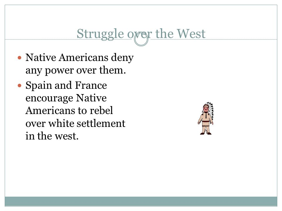 Struggle over the West Native Americans deny any power over them.