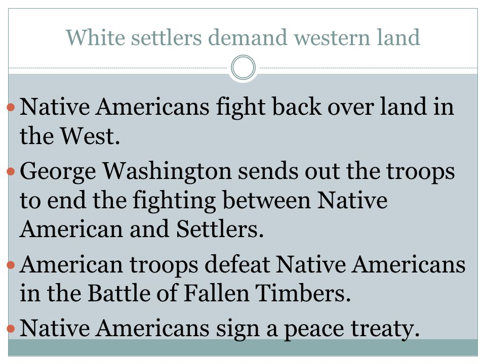 White settlers demand western land