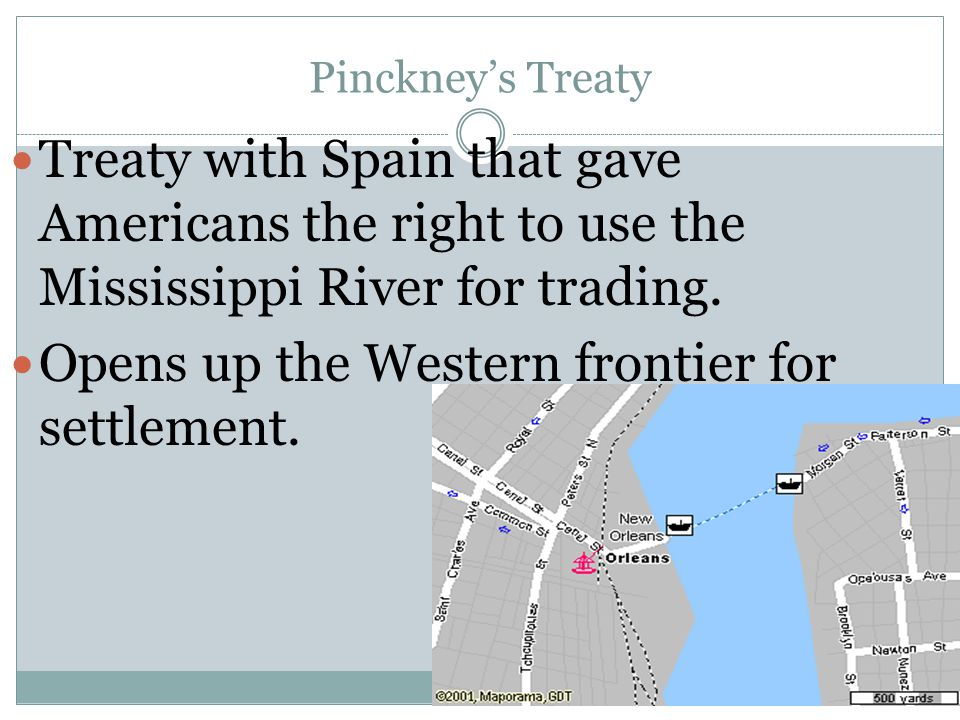 Opens up the Western frontier for settlement.