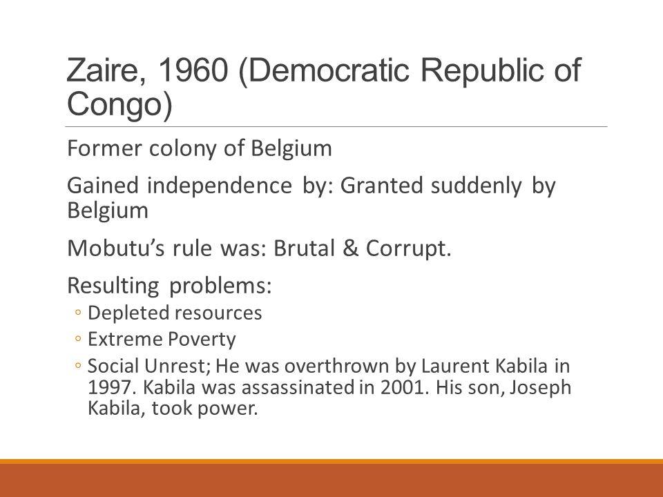 Zaire, 1960 (Democratic Republic of Congo)