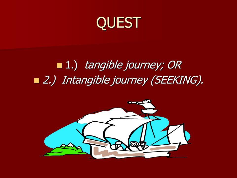 2.) Intangible journey (SEEKING).