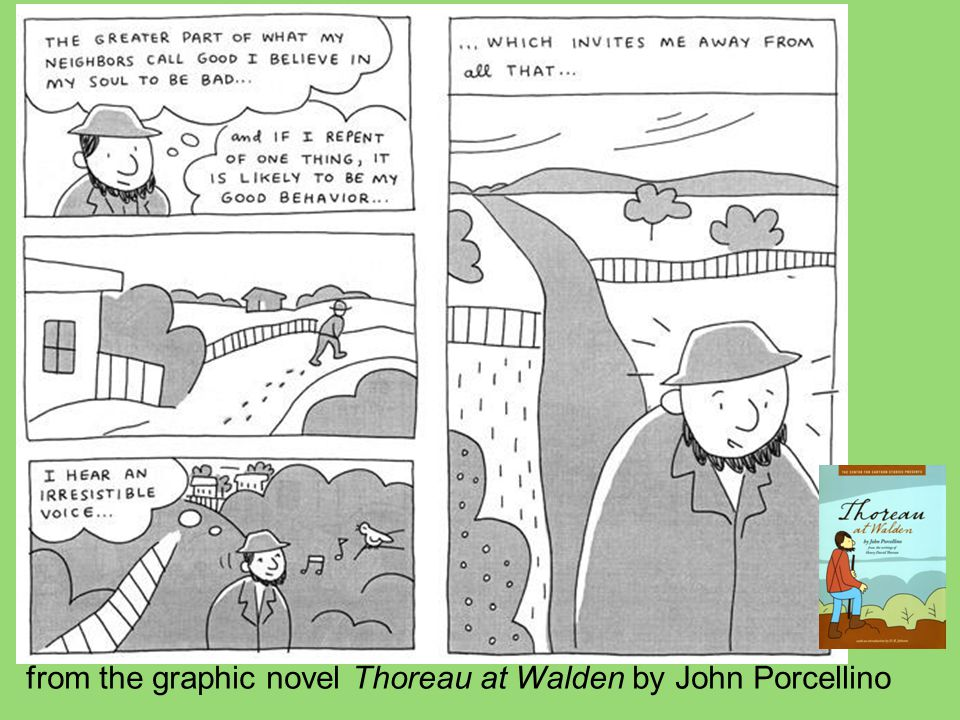 from the graphic novel Thoreau at Walden by John Porcellino
