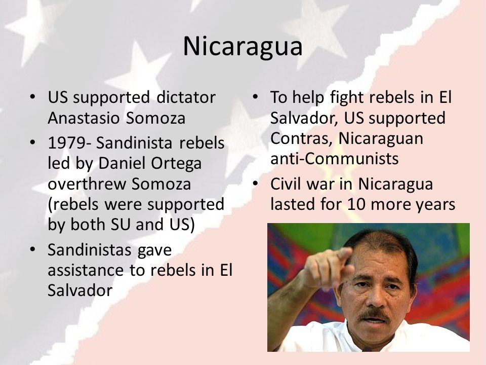 Nicaragua US supported dictator Anastasio Somoza