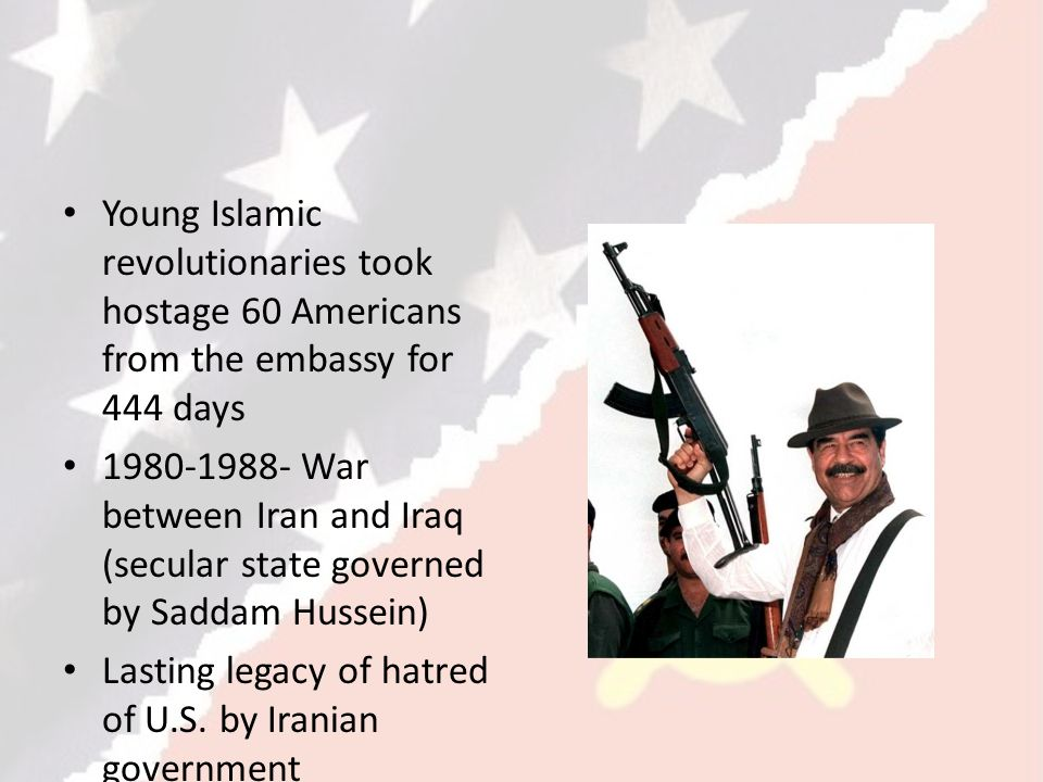 Young Islamic revolutionaries took hostage 60 Americans from the embassy for 444 days