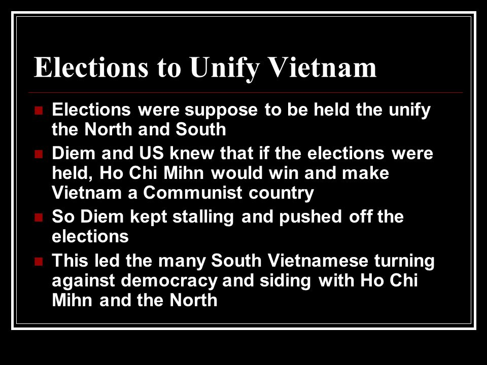 Elections to Unify Vietnam