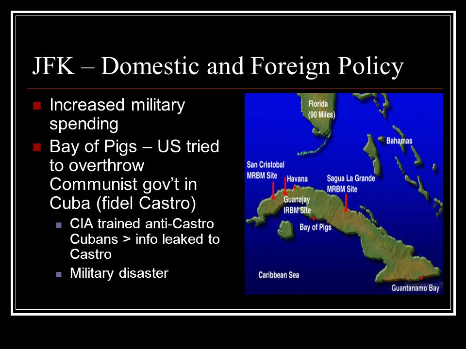 JFK – Domestic and Foreign Policy