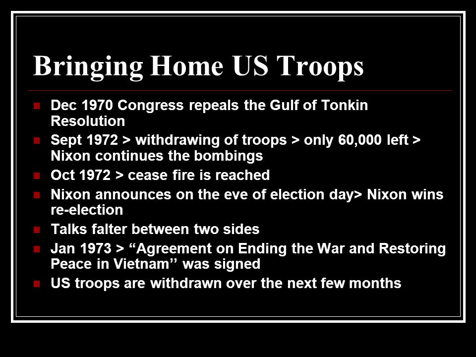 Bringing Home US Troops