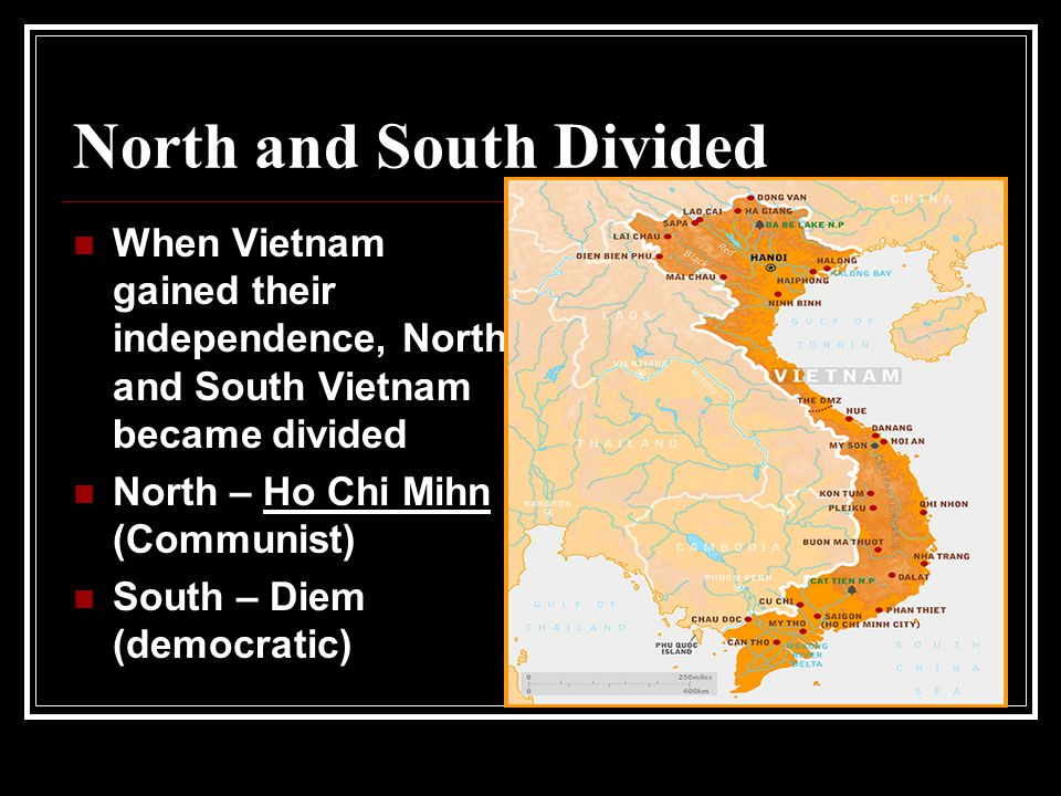 North and South Divided