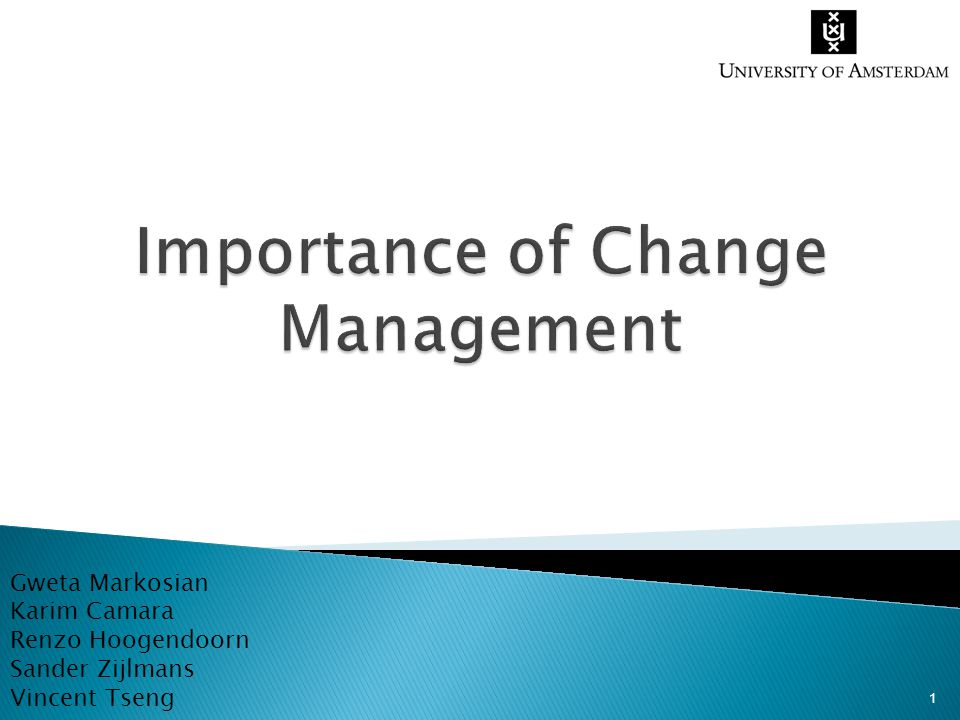 Importance of Change Management