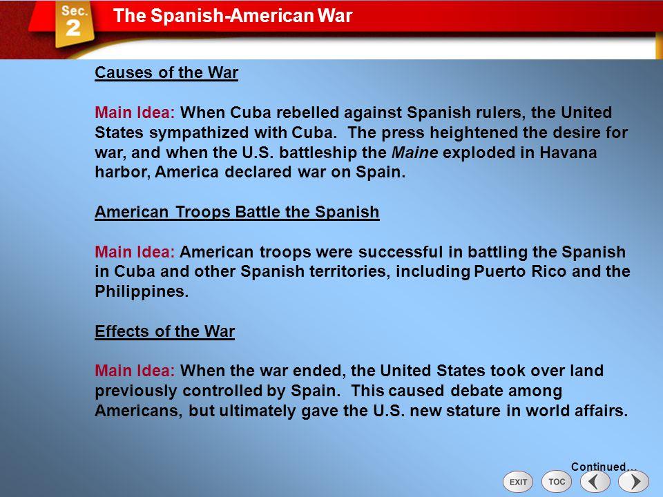 Sec 2: The Spanish-American War