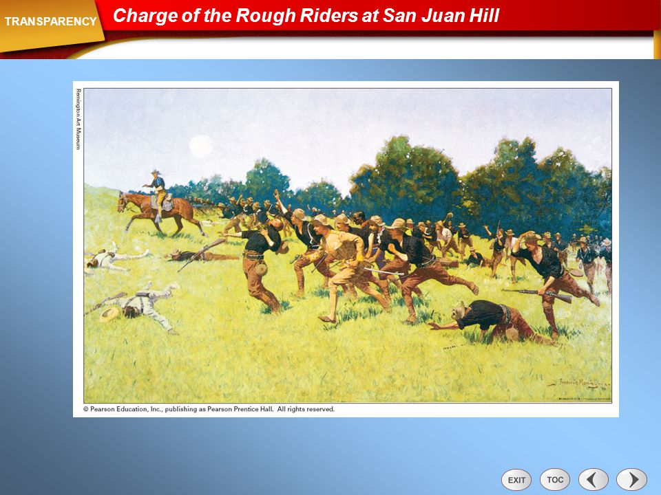 Transparency: Charge of the Rough Riders at San Juan Hill