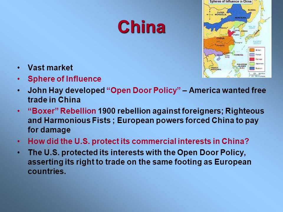 China Vast market Sphere of Influence