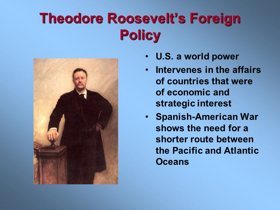 Theodore Roosevelt's Foreign Policy
