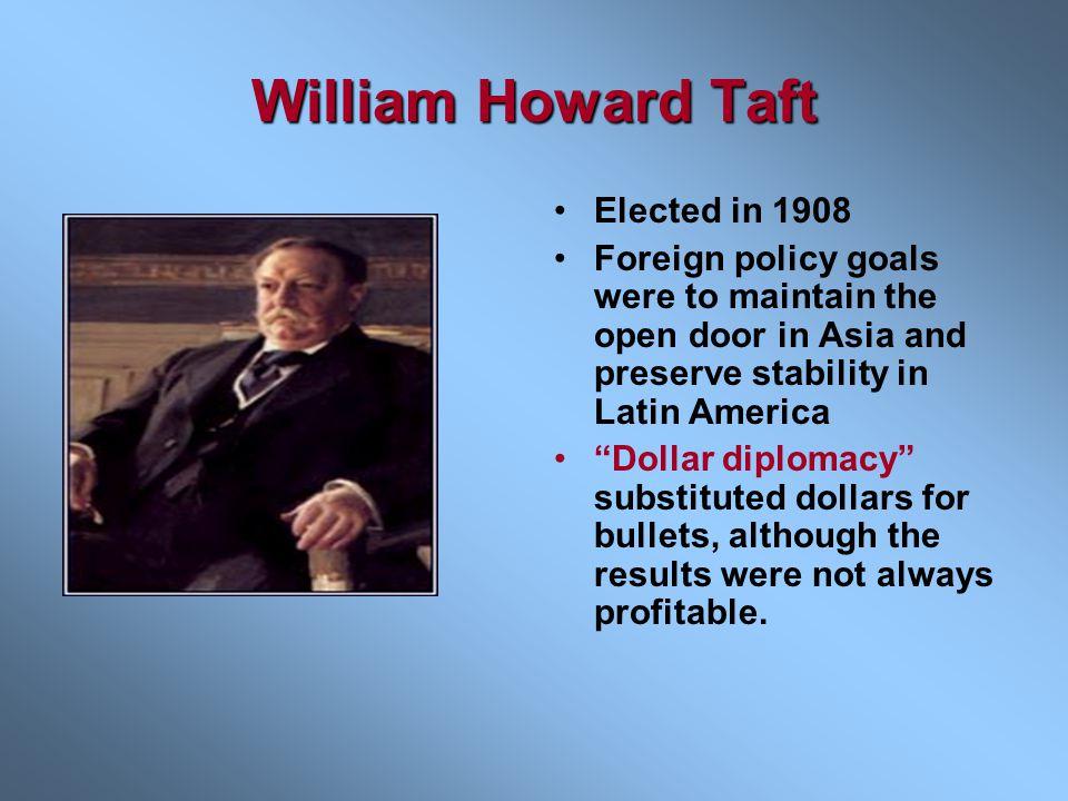 William Howard Taft Elected in 1908