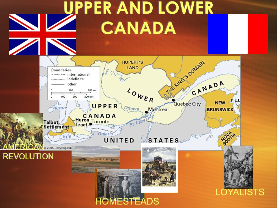 UPPER AND LOWER CANADA AMERICAN REVOLUTION LOYALISTS HOMESTEADS