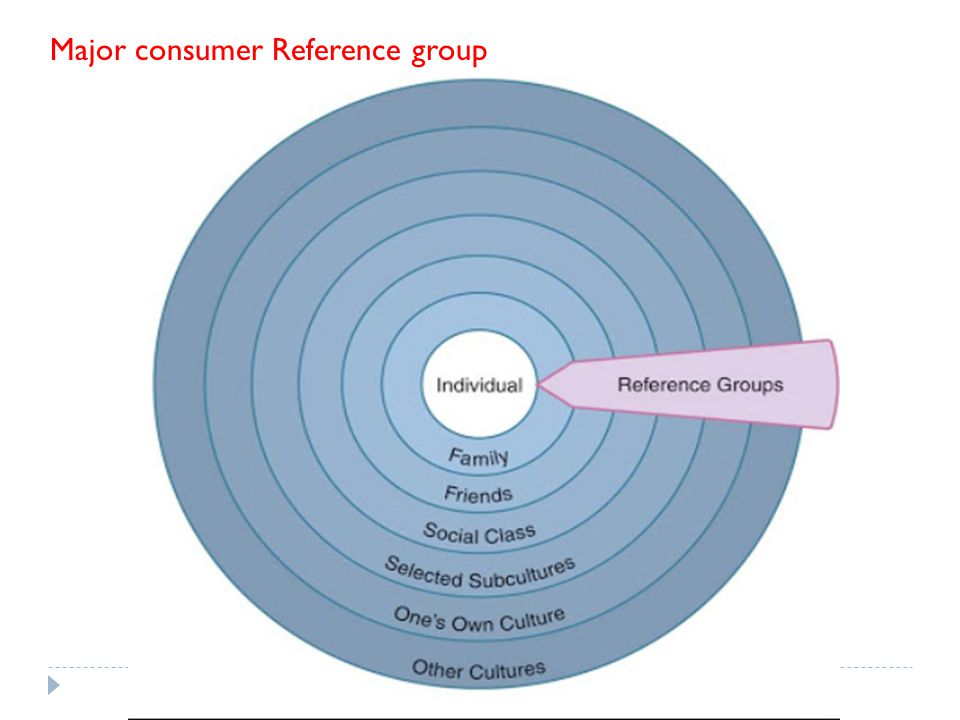 Major consumer Reference group
