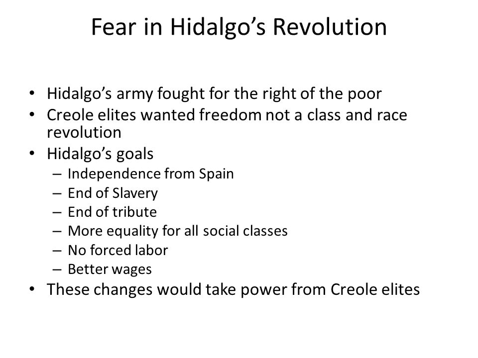 Fear in Hidalgo's Revolution