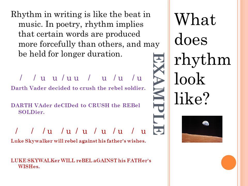 What does rhythm look like
