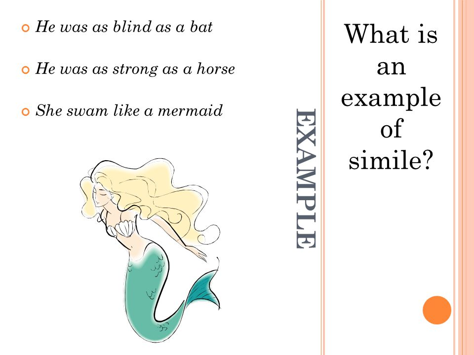 What is an example of simile