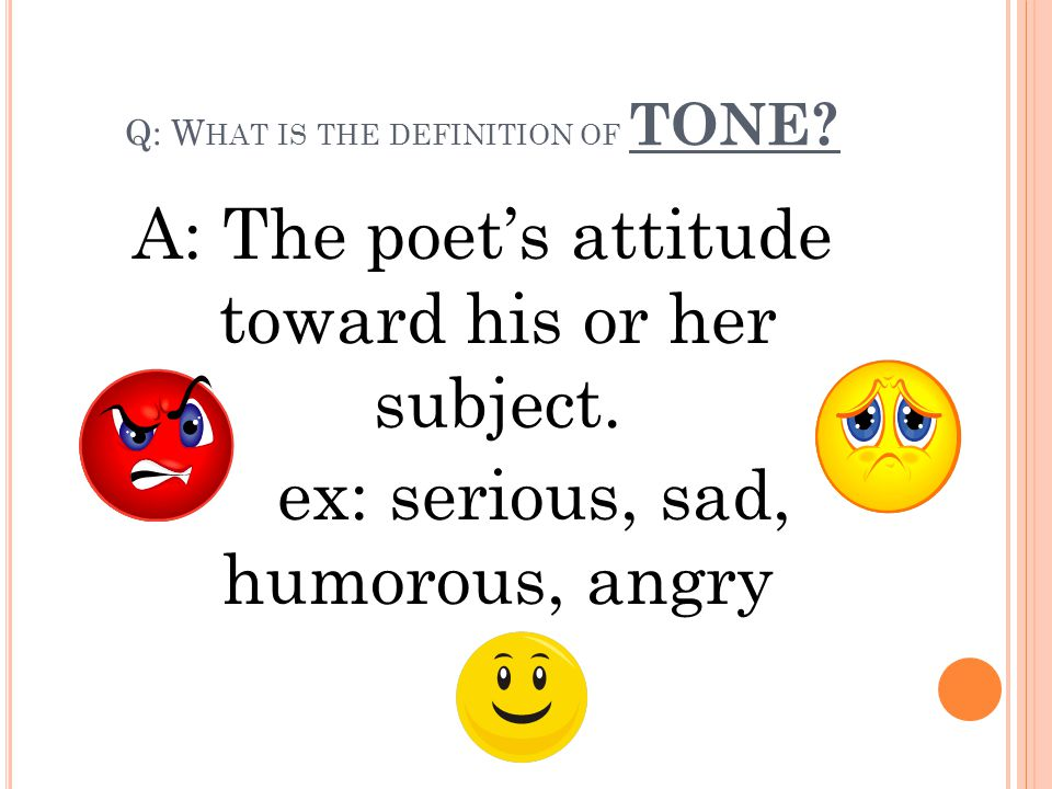 Q: What is the definition of TONE