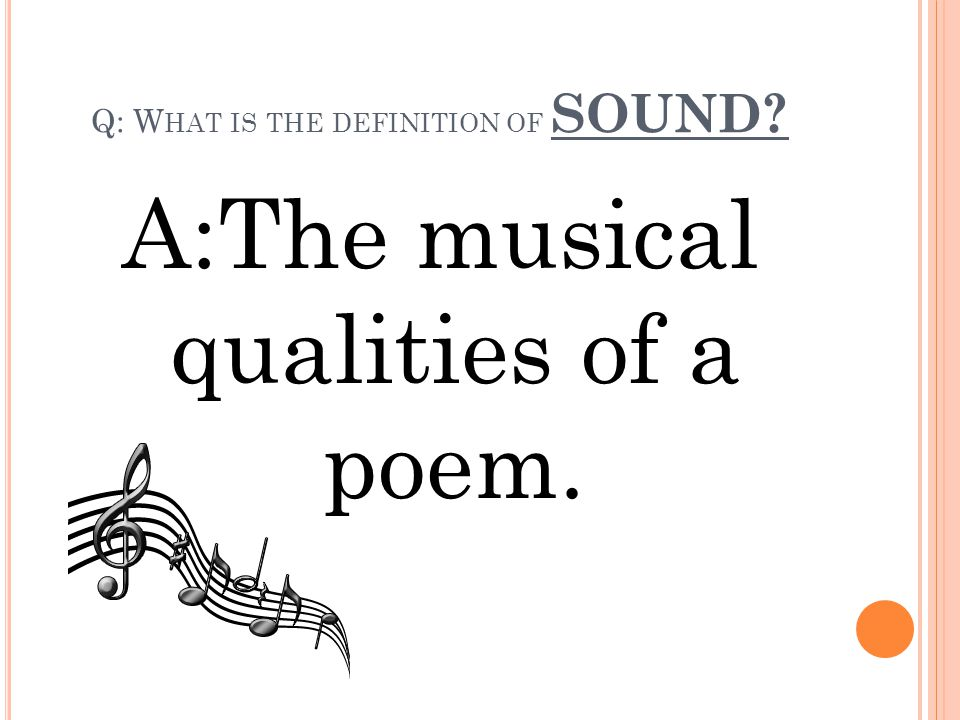 Q: What is the definition of SOUND