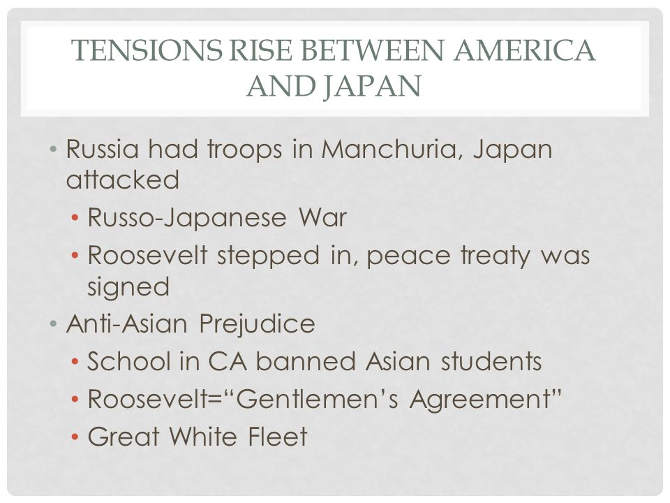 Tensions Rise Between America and Japan