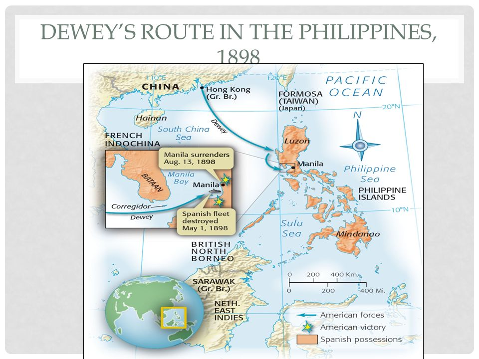 Dewey's Route in the Philippines, 1898