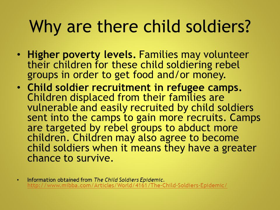 Why are there child soldiers